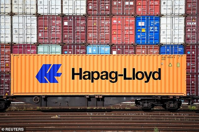 Rolf Habben Jensen, chief executive of one of the world's largest shipping lines Hapag-Lloyd, said it was 'flooded out with bookings' after the Chinese New Year holiday ended