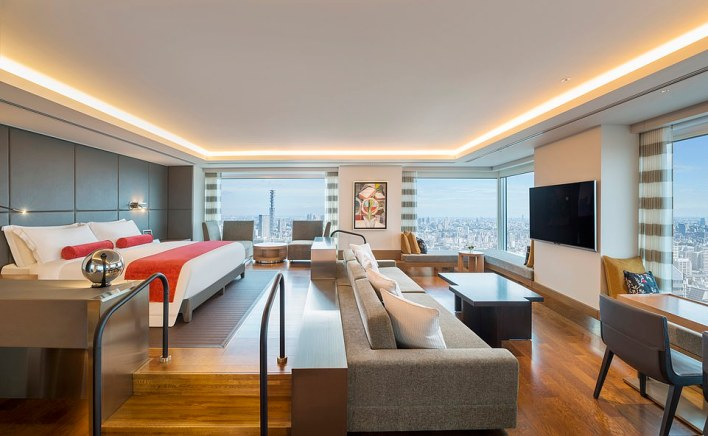 One of the stunning rooms at the now five-star Prince Gallery Tokyo Kioicho, A Luxury Collection Hotel