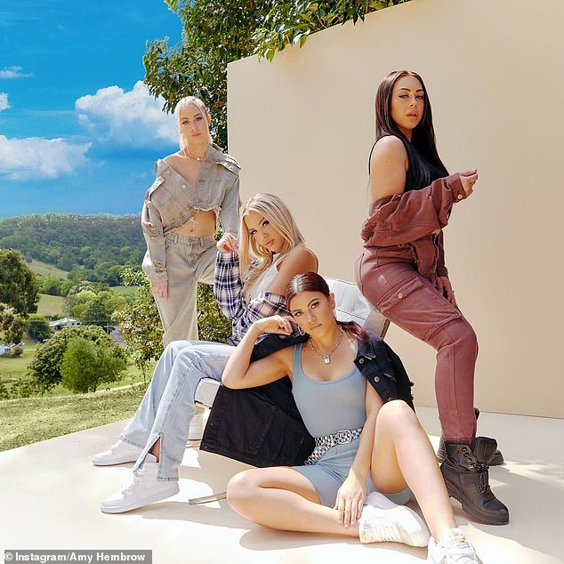 Famous family: The Hembrow sisters (pictured L-R: Amy, Tammy, Starlette and Emilee) became known as 'the Australian Kardashians' in 2019 after Tammy was involved in a bizarre incident at Kylie Jenner's 21st birthday party in West Hollywood
