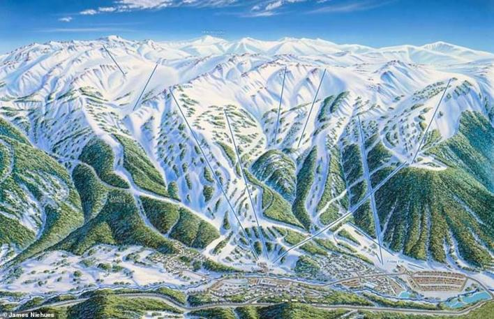 Niehues has mapped several resorts in Australia, including Thredbo (above). This map was created in 1994 - and the resort still uses Niehues' work to this day