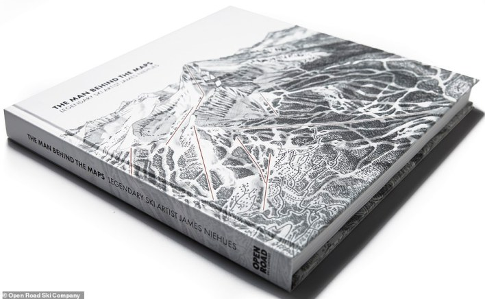 The Man Behind the Maps: Legendary Ski Artist James Niehues, published by Open Road Ski Company can be ordered via openroadski.com and costs $90
