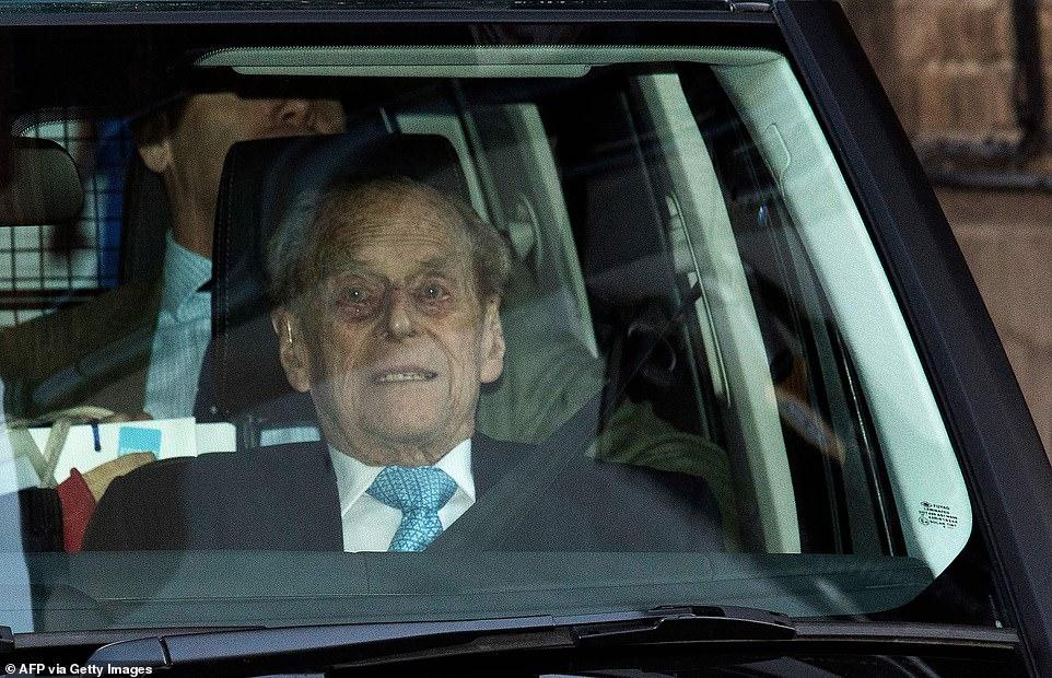 The last time Philip left hospital:Duke of Edinburgh leaves the King Edward VII hospital in west London on December 24, 2019