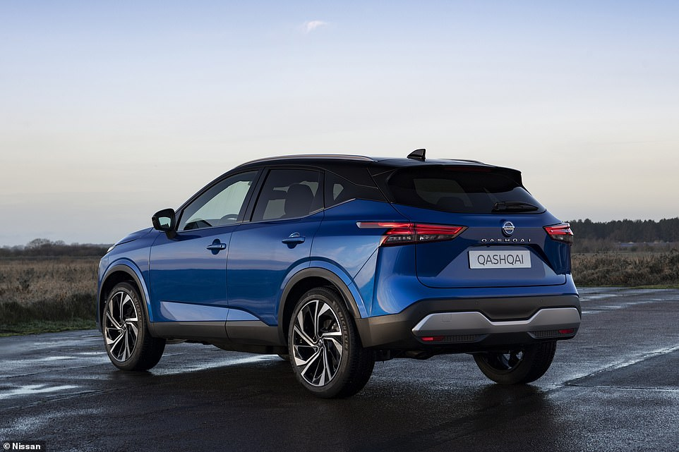 Designers have managed to make the Qashqai familiar but also evolved the design with a bulkier presence, raked lines down the profile of the car and squared-off sections from the rear arches