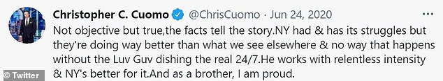 Chris had previously acknowledged himself that he was unable of objectivity