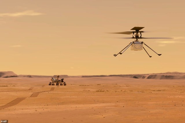 After landing on the Martian surface, the rover will release its travel companion, the Ingenuity helicopter. The copter will fly at an altitude that is similar to 100,000 feet on Earth, allowing it to gather geology data in areas the rover is unable to travel