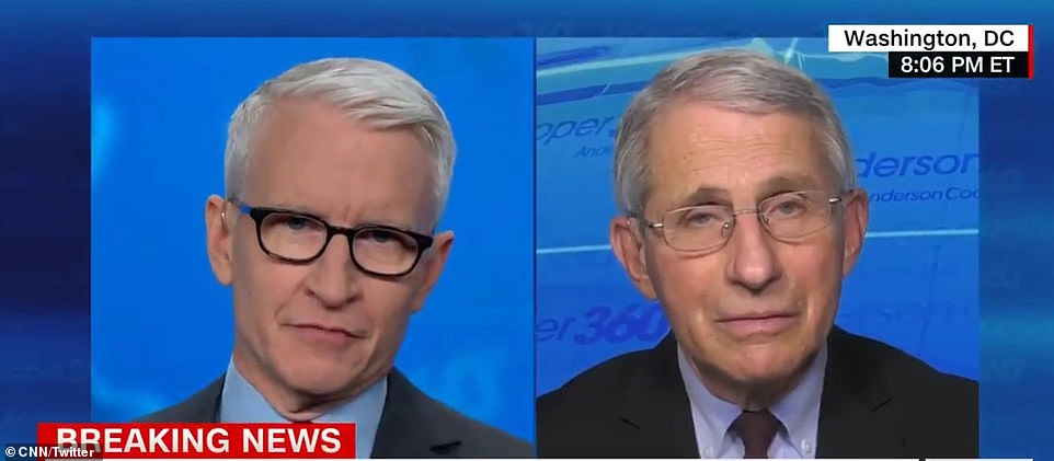 Dr Anthony Fauci now says there will be vaccines for all Americans by July - just days after claiming April would be 'open season' for healthy adults to get the shot. He toldCNN: 'They will be available in July. It may take an additional couple months… towards the end of the summer to get everybody vaccinated'