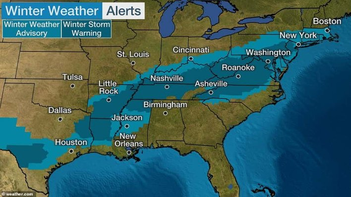 Millions of Americans in the Northeast are under winter weather advisories as another round of snow and ice could leave hundreds of thousands in the dark through the end of the week