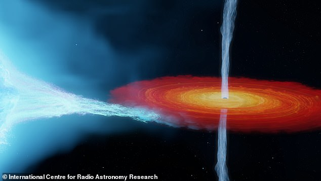 The star's wind absorbs radio waves from the black hole's jets - a discovery that improved the accuracy of the calculations allowing the researcher to him in the true size and distance from Earth of the phenomenon