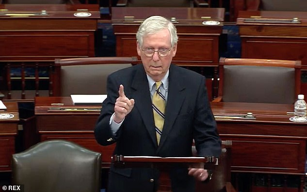 'Former President Trump's actions preceding the riot were a disgraceful dereliction of duty,' McConnell said on the Senate floor