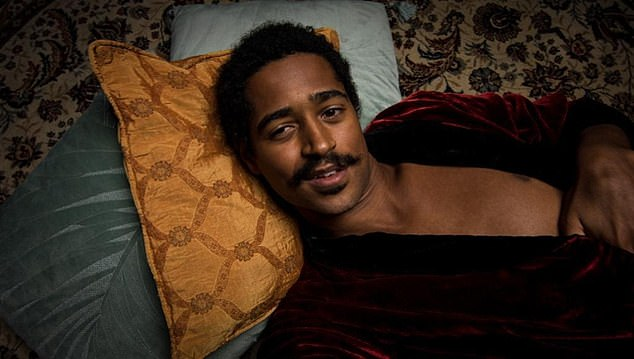 Pictured:Alfred Enoch as 'Henry' in a filmed staged production of A Picture of Dorian Gray.Enoch, who played Gryffindor good guy Dean Thomas in the Harry Potter films, is a fan of the louche looks he displays in an updated filmed play of Oscar Wilde's 19th-century tale