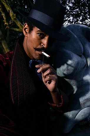 Alfred Enoch as 'Henry' in a filmed staged production of A Picture of Dorian Gray