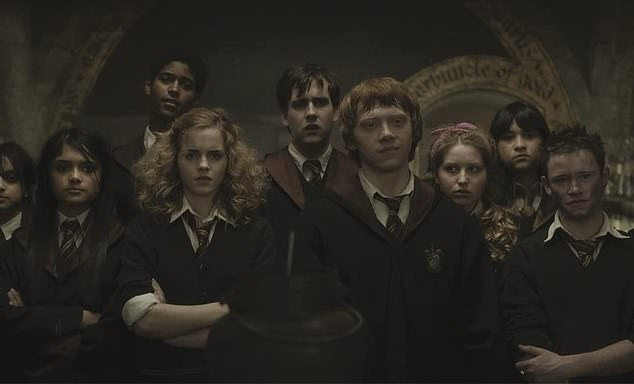 Pictured: Alfred Enoch (third from left)in Harry Potter and the Half-Blood Prince