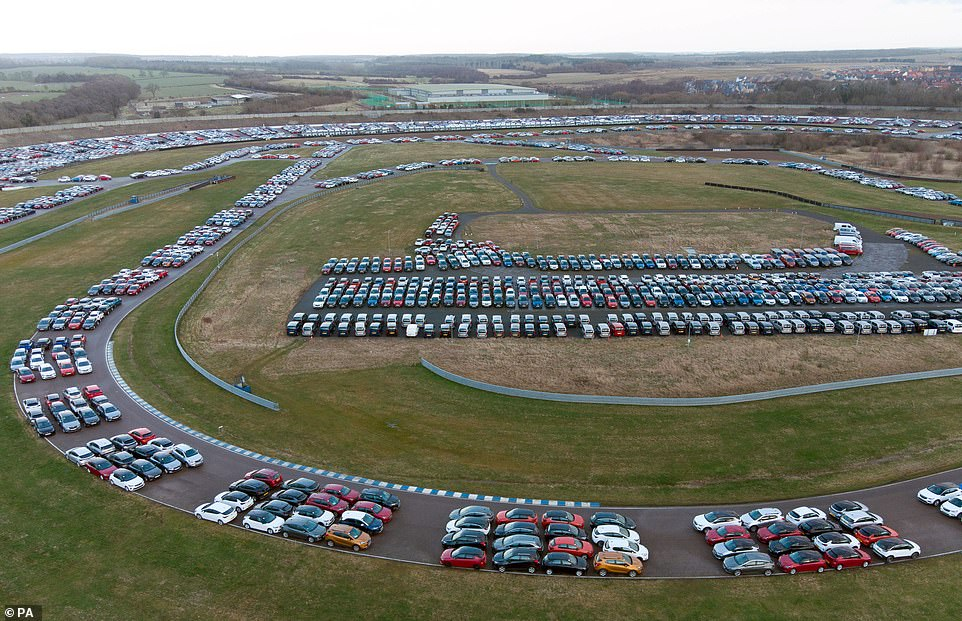 Now a storage facility, it is holding mostly former hire and ex-lease vehicles before they are sent to auctions or second-hand dealers' forecourts