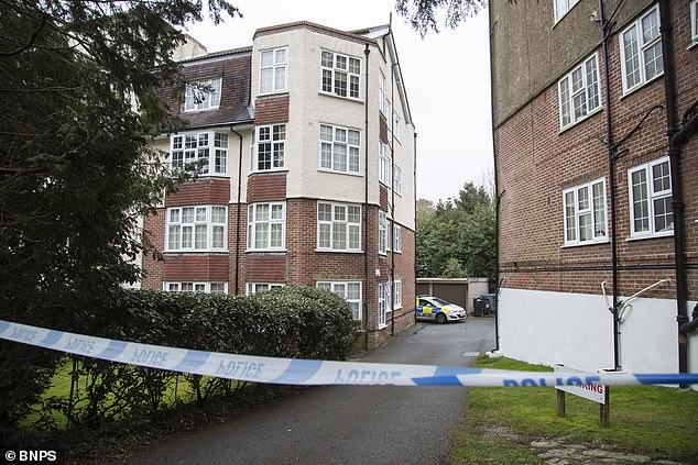 Police fear the incidents were 'coordinated' attacks. Pictured: A police cordon in place