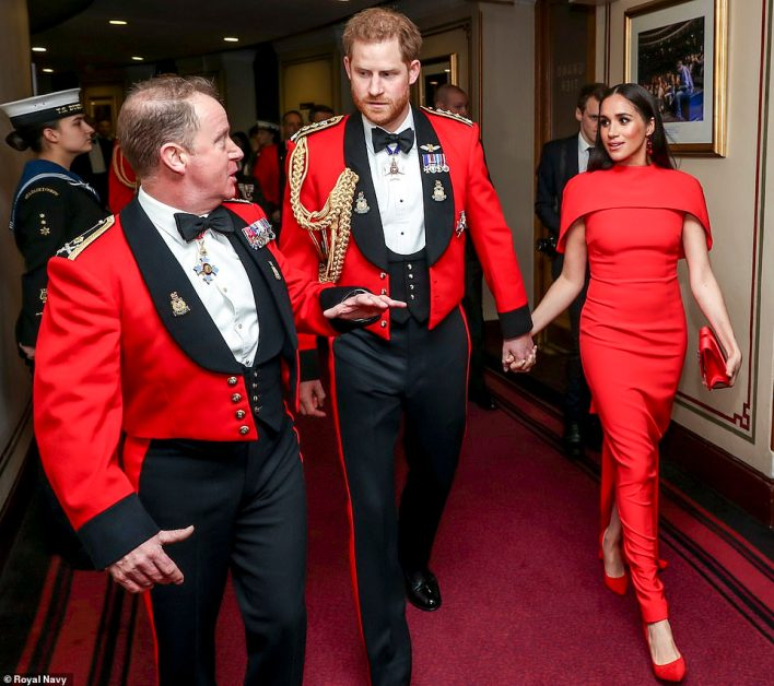 Prince Harry attends the Mountbatten Festival at the Royal Albert Hall as Captain General of the Royal Marines last March