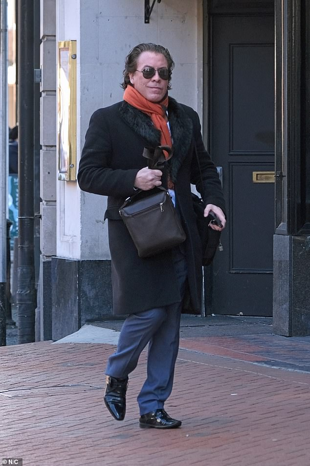 Jeremy Gordeno arrives at Reading County Court this morning for the hearing