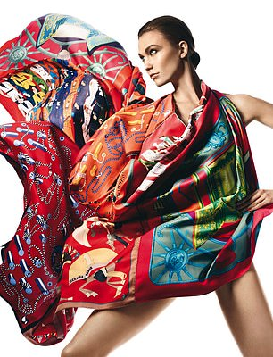 In vogue: The French handbag and silk scarf maker said sales rose 16 per cent between October and December