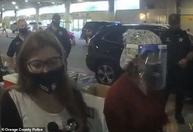 The two women stood silently while the cops berated them for their 'selfishness'