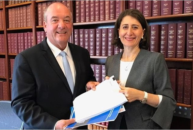 Ms Berejiklian vowed to never speak to Mr Maguire (left) again following allegations of corruption