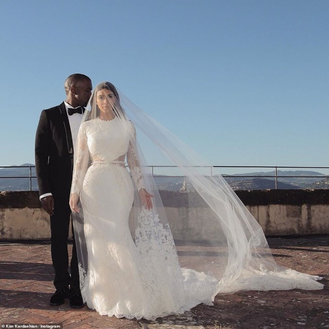 There was hope:Kim and Kanye wed in May 2014 in Italy after they had already welcomed their eldest daughter North