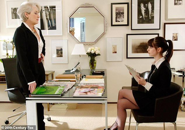Groundbreaking: Hathaway gave a memorable performance as the mousey assistant to the editor-in-chief of a prestigious fashion magazine, who finds her personal life unraveling as her career takes off