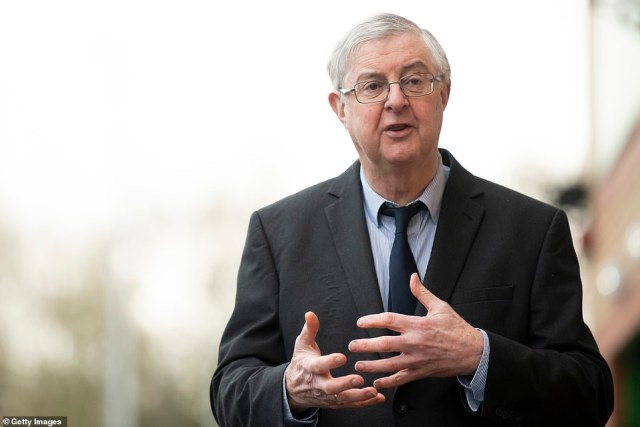 All primary school pupils and those facing exams will return to classrooms in Wales by March 15 so long as the Covid-19 situation 'continues to improve,' Mark Drakeford said today