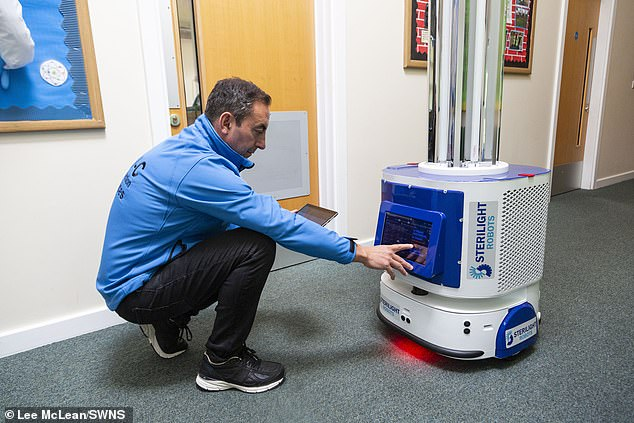 A Sterilight UVC robot which has been used to disinfect high-touch indoor spaces