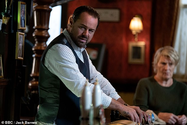 Perfect partner: Harry joined the soap opera as a friend of Danny Dyer's character Mick Carter (pictured) and it has been claimed the pair are already inseparable