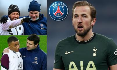 150million Kane could reunite with old boss Mauricio Pochettino 'if Kylian  Mbappe or Neymar leave' | Daily Mail Online