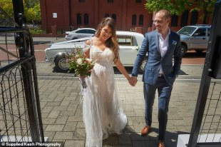 MAFS star Tracey Jewel married high school sweetheart Nathan Constable at her Perth wedding