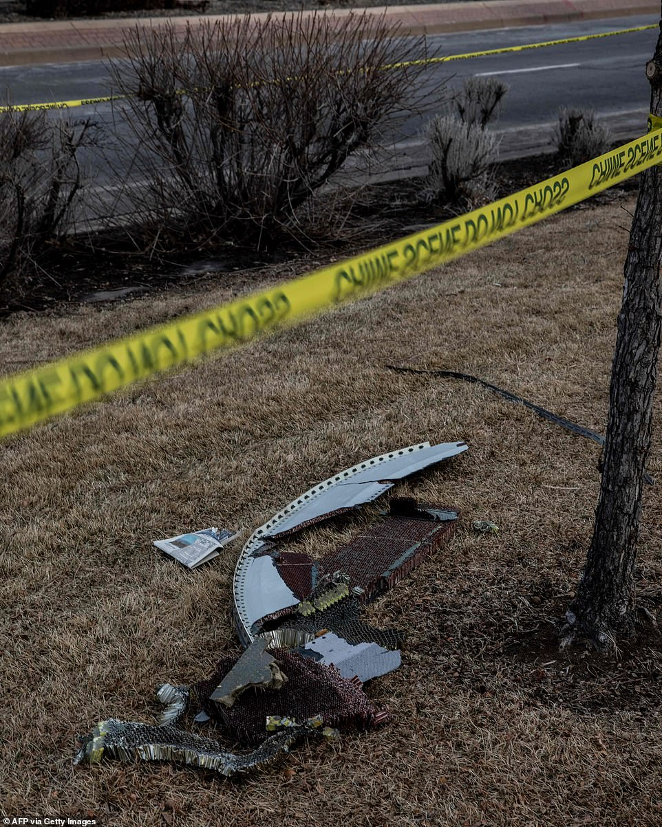 Investigators said it was a miracle that nobody on the ground was injured by the falling debris on Saturday