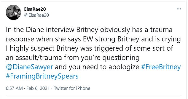 The end of the interview resulted in Britney breaking down and cutting it short: It inspired many Twitter users to speak up about how the superstar was mistreated at the time