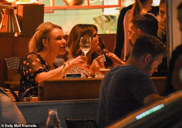 Let's drink to that!  Relationship gurus treated themselves to a three-hour catch-up filled with tacos and tortilla chips