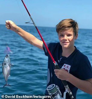 Fishing: Cruz was seen showing off his fishing skills in the video