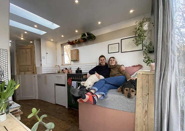 Sophie Frykfors von Hekkel, 30, an architectural designer, and her hairdresser partner Lalli Castiglione, 31, spent £3,500 on buying the 7.5-ton horsebox and £12,000 on refurbishments – for a total bill of £15,500