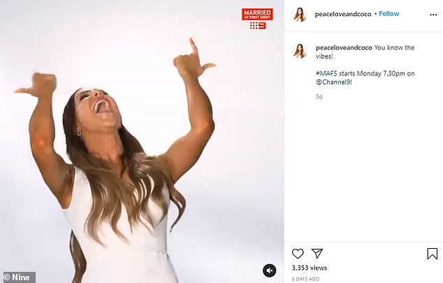 Gone:Interestingly, all of the contestants from the new season already have their comment sections disabled on images posted after they were announced as stars of the 2021 season. Pictured: BrideCoco Stedman's account