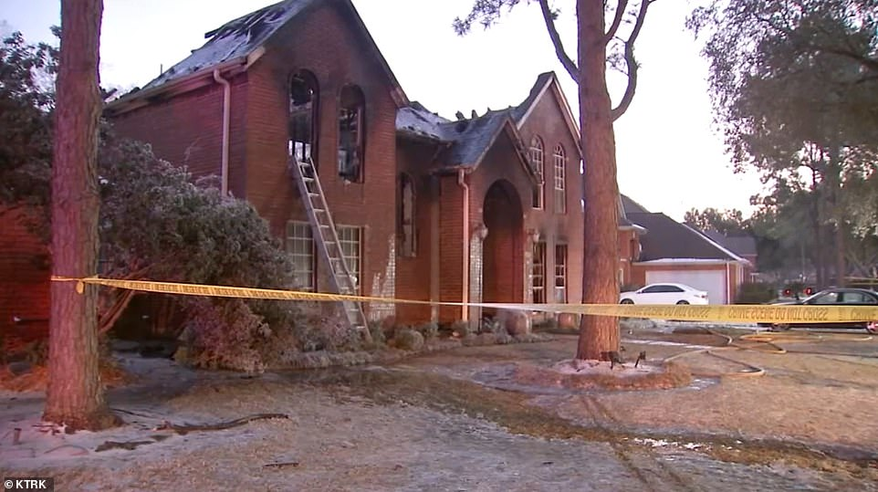 The family had been without power at their Sugar Land home for eight hours when the fire broke out