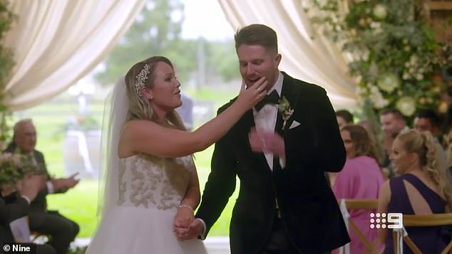 By comparison, the wedding of workplace trainer Melissa and Canberra radio 'star' Bryce went off without a hitch