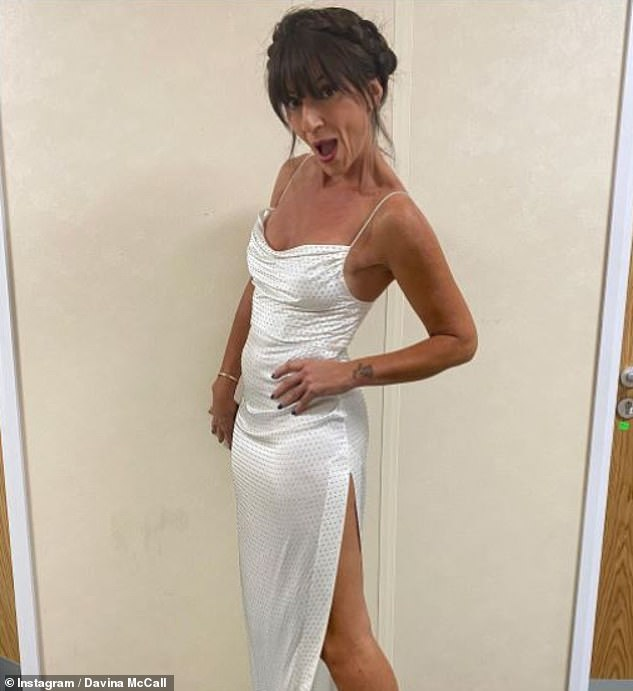 Having fun:The TV star recently hit back at a comment on Twitter last month, in which a user told her she was 'too old' for a stunning skin-tight white dress she wore on the show