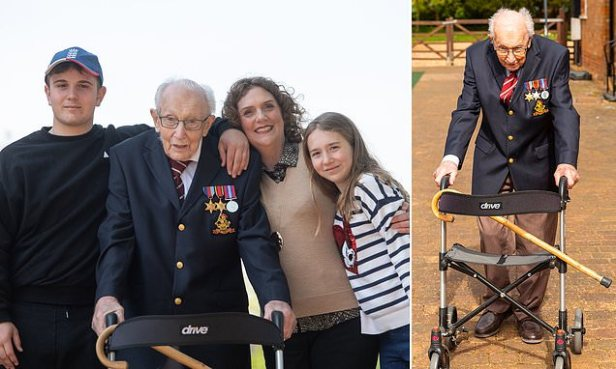 Captain Sir Tom Moore's funeral will be held on Saturday