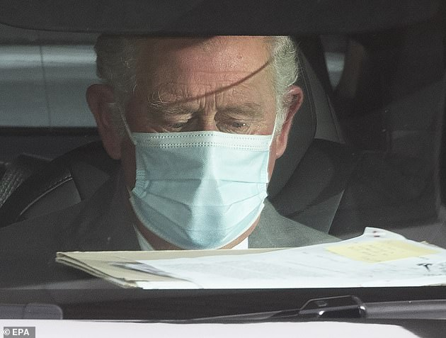Prince Charles left the hospital shortly before 4pm on Saturday, half an hour after arriving