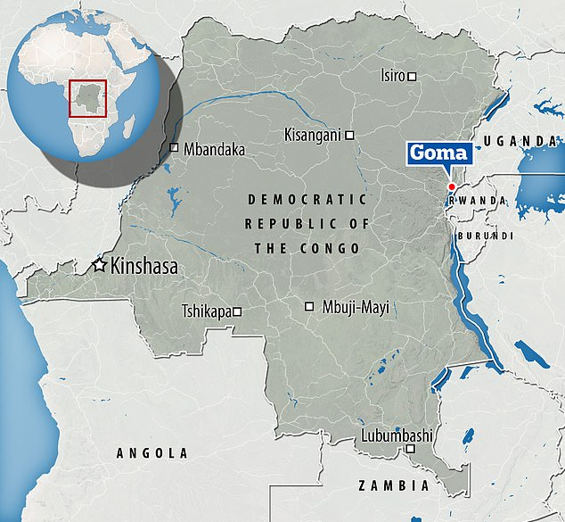 Monday's attack occurred north of Goma - a region that includes the UNESCO-listed Virunga National Park, which has also been troubled by violence