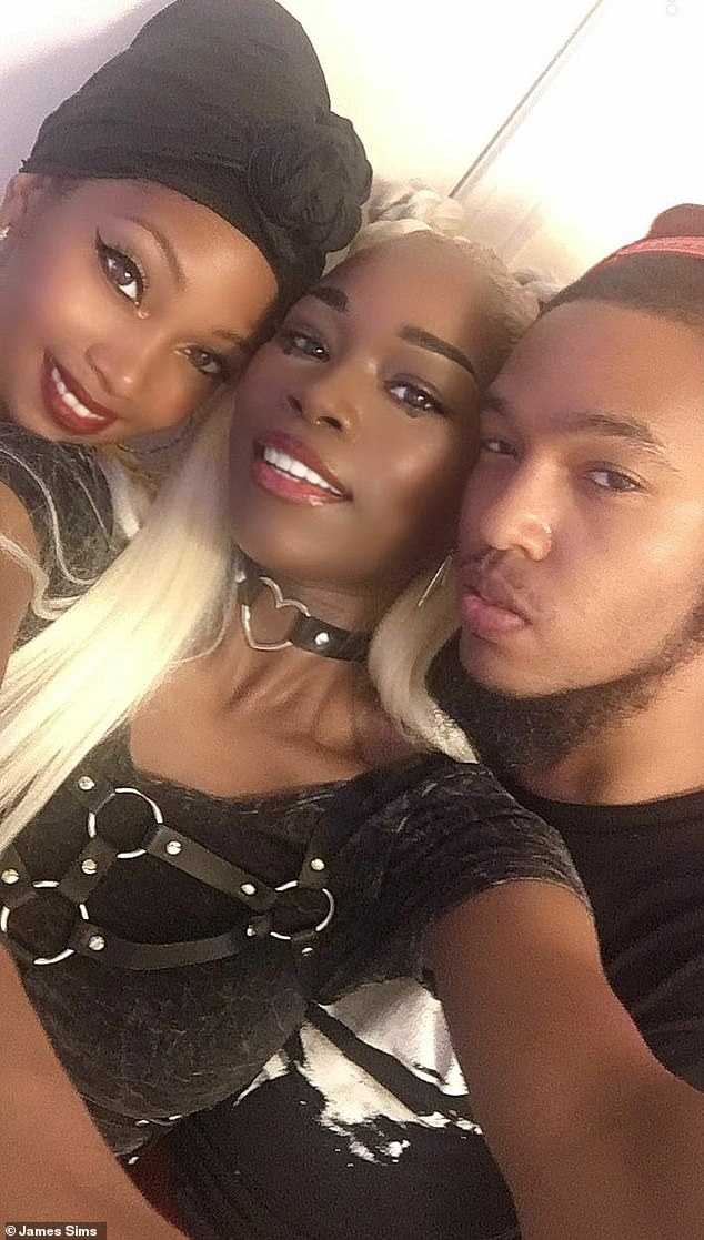 Since becoming a polyamorous triad, they have set up an Instagram, @bhgpolylife, to address misconceptions about their relationship (L-R: Ty, Sony and Jay)