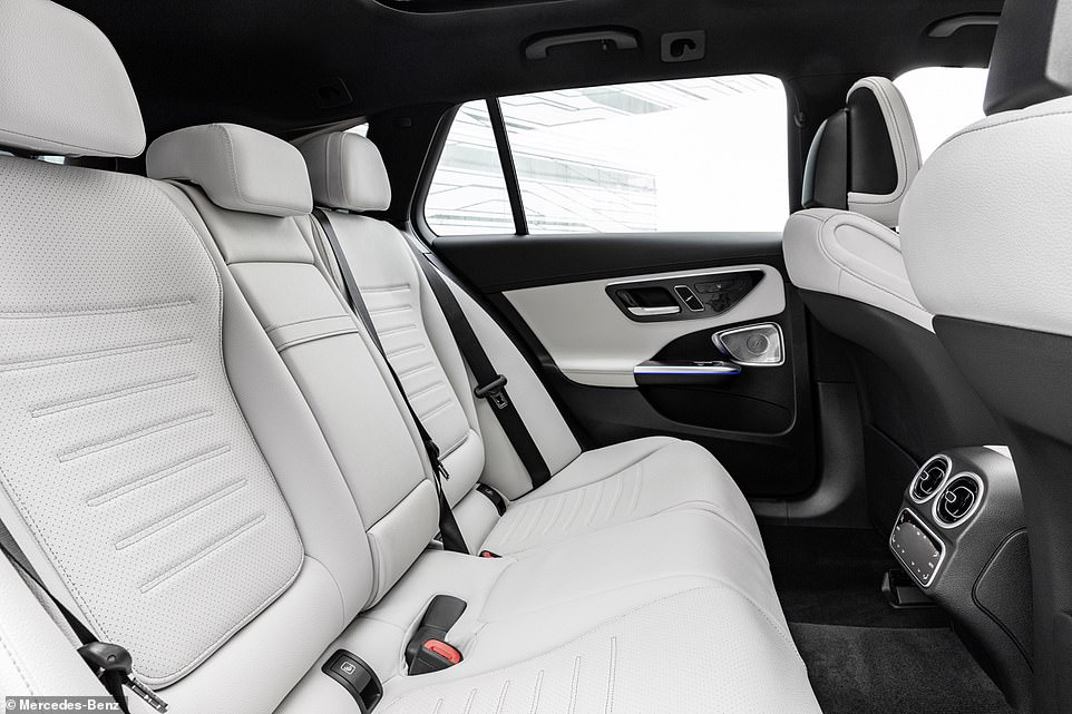 This image o the second row in the estate shows just how much headroom is on offer. If you're carrying taller occupants regularly, this is the one to choose