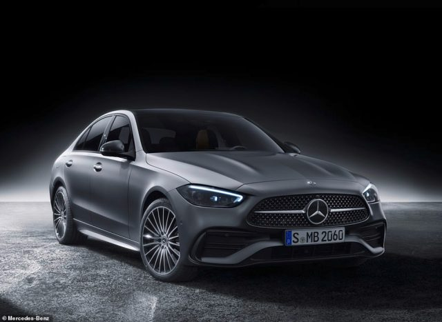 The new 'bread and butter Benz': Mercedes has taken the covers off the new-for-2021 C-Class saloon (pictured) and estate models that will go on sale later this year, priced from £38,000