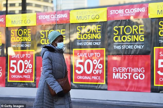 It follows retail analyst Springboard finding that footfall across UK retail destinations increased for the fourth week in a row in the week beginning February 7. Pictured: Sales in Birmingham, January 5