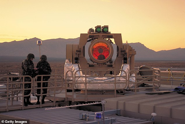 Pictured: A beam director element of the Army's Tactical High Energy Laser (THEL)