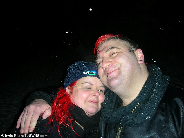 A coroner ruled the lack of a hard shoulder contributed to the deaths of two drivers on the M1 near Sheffield in 2019 – Jason Mercer, 44, (pictured with wife Claire) and Alexandru Morgeanu, 22