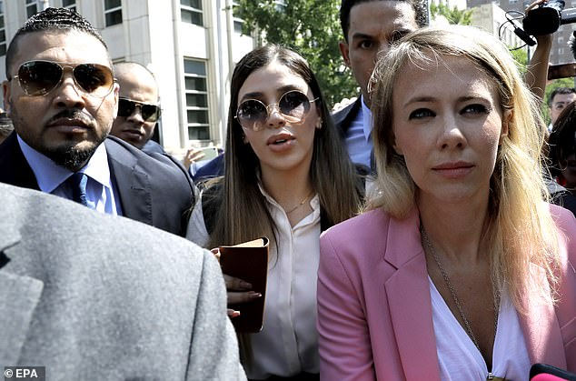 Coronel is seen leaving court in Brooklyn on July 17, 2019, after her husband was sentenced