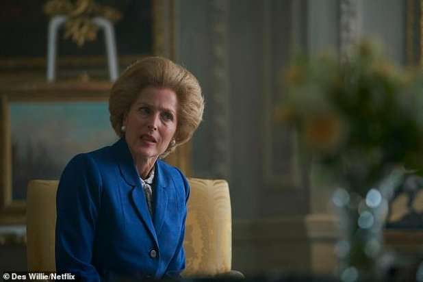 Iron lady: Gillian is nominated for a Golden Globe for her portrayal of another 20th century political icon, Margaret Thatcher, so she will certainly have no trouble putting herself in Eleanor's shoes.